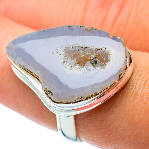 White Geode Slice Rings handcrafted by Ana Silver Co - RING34738