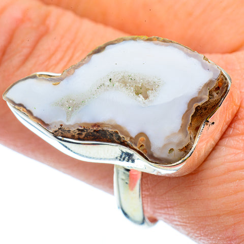 White Geode Slice Rings handcrafted by Ana Silver Co - RING34898