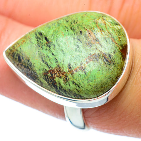 Lemon Chrysoprase Rings handcrafted by Ana Silver Co - RING34907