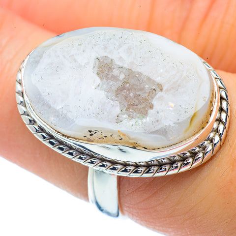 White Geode Rings handcrafted by Ana Silver Co - RING35015