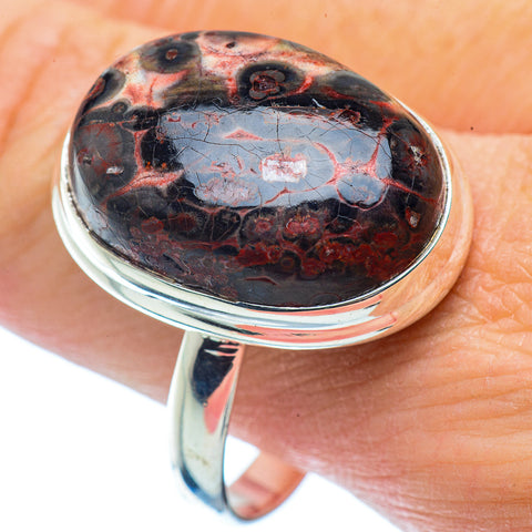 Poppy Jasper Rings handcrafted by Ana Silver Co - RING35777
