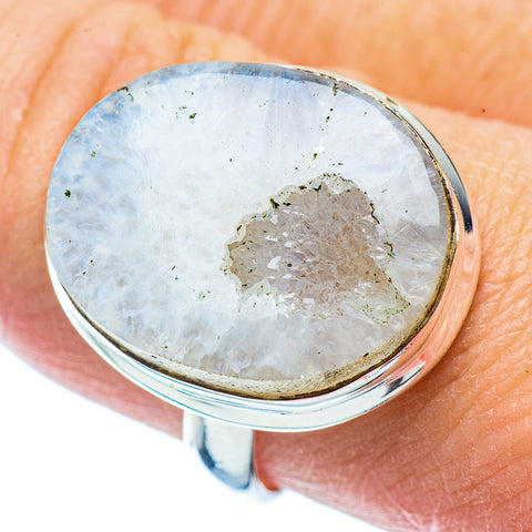 White Geode Slice Rings handcrafted by Ana Silver Co - RING35792