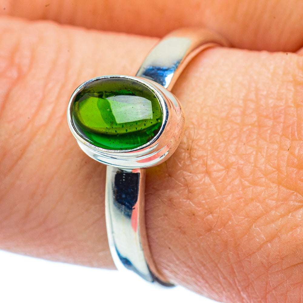 Chrome Diopside Rings handcrafted by Ana Silver Co - RING35951