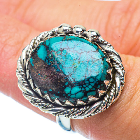 Tibetan Turquoise Rings handcrafted by Ana Silver Co - RING35980