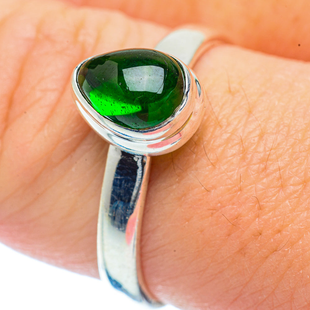 Chrome Diopside Rings handcrafted by Ana Silver Co - RING36158