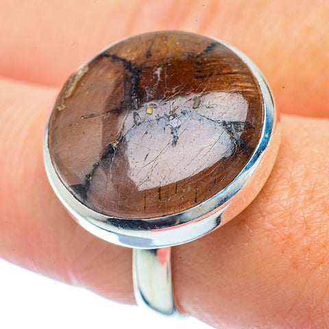 Chiastolite Rings handcrafted by Ana Silver Co - RING36164