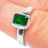Chrome Diopside Rings handcrafted by Ana Silver Co - RING36244