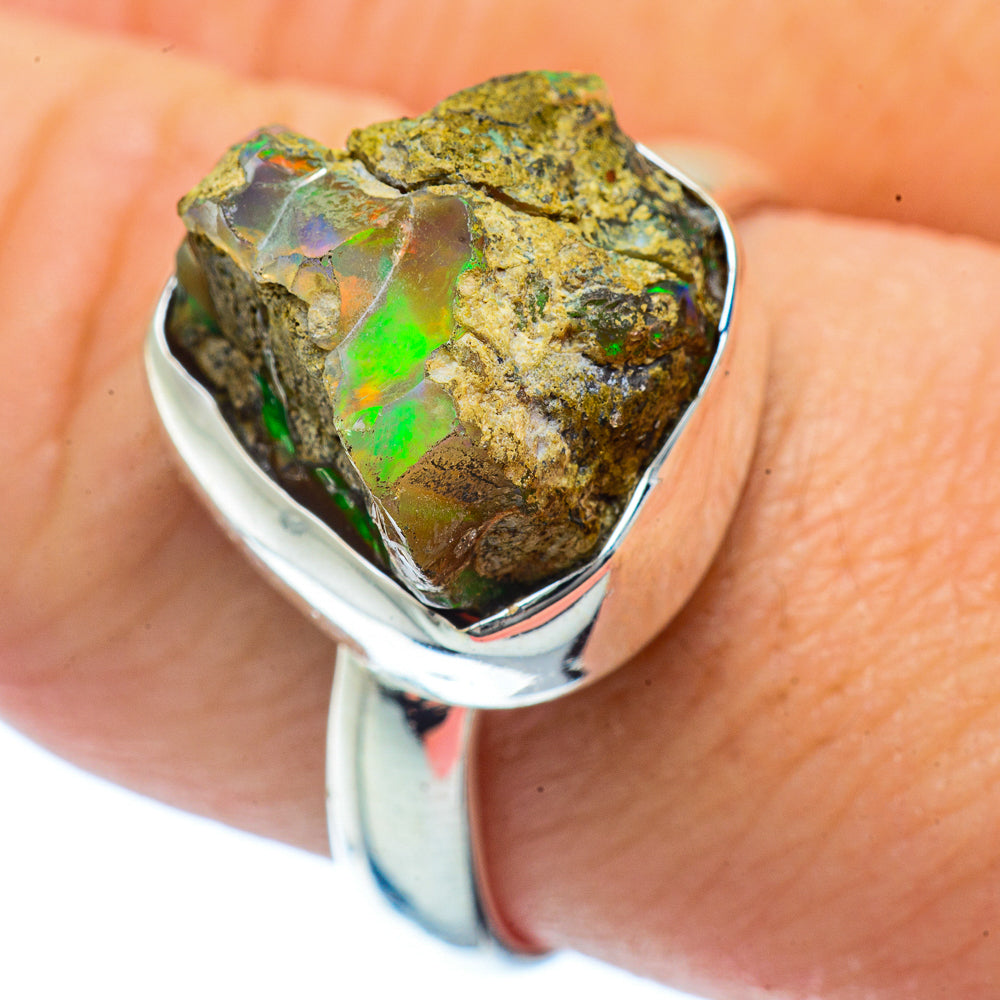 Ethiopian Opal Rings handcrafted by Ana Silver Co - RING36272