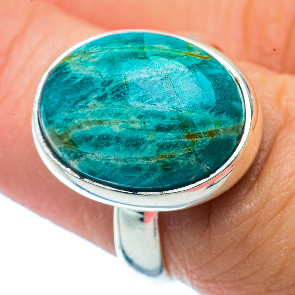 Amazonite Rings handcrafted by Ana Silver Co - RING36333