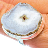 White Geode Slice Rings handcrafted by Ana Silver Co - RING36498