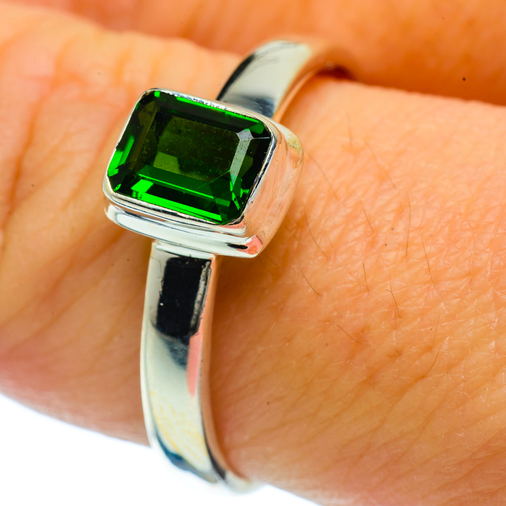 Chrome Diopside Rings handcrafted by Ana Silver Co - RING36634