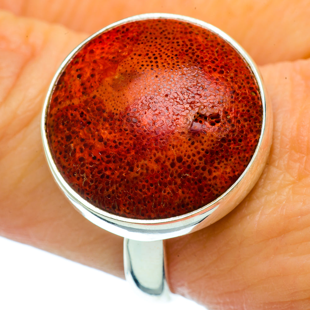 Sponge Coral Rings handcrafted by Ana Silver Co - RING36646