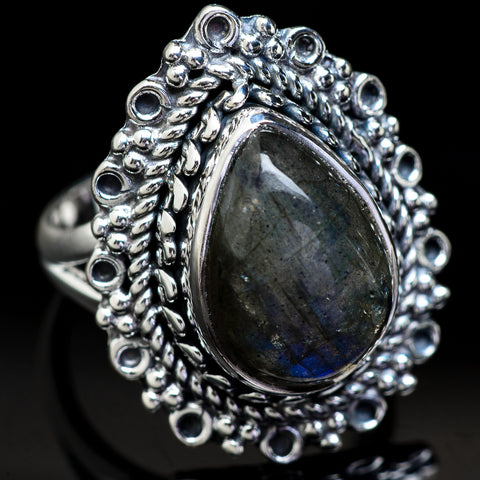 Labradorite Rings handcrafted by Ana Silver Co - RING3717