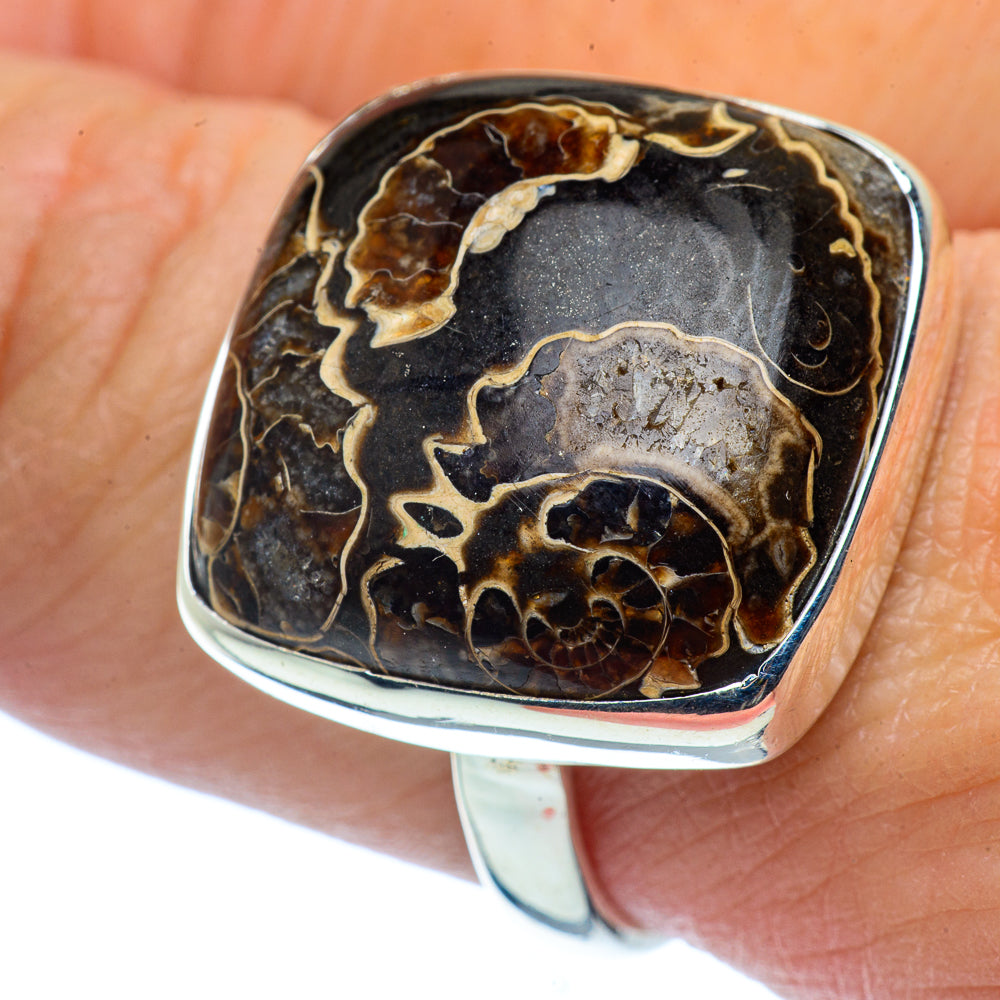 Marston Marble Fossil Rings handcrafted by Ana Silver Co - RING37546