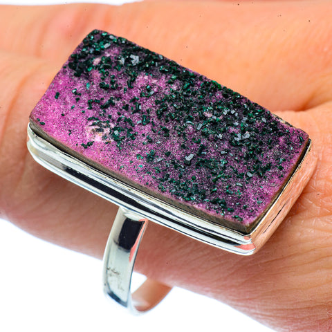 Cobalto Calcite Druzy Rings handcrafted by Ana Silver Co - RING37562