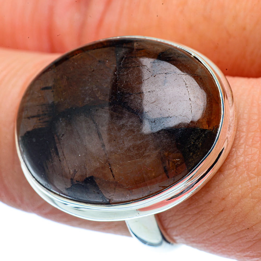 Chiastolite Rings handcrafted by Ana Silver Co - RING37983
