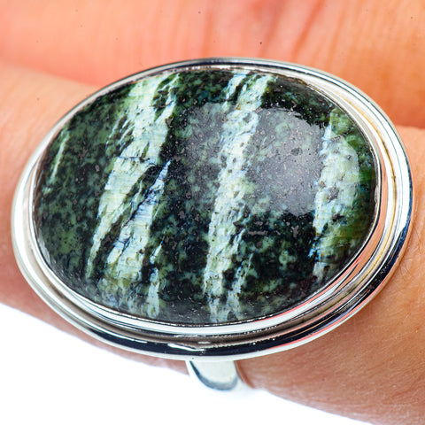 Lizard Jasper Rings handcrafted by Ana Silver Co - RING38039