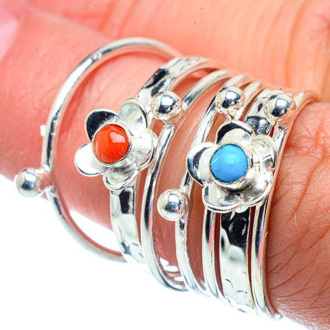 Red Coral Rings handcrafted by Ana Silver Co - RING38651