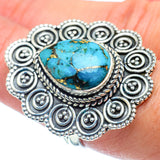 Blue Copper Composite Turquoise Rings handcrafted by Ana Silver Co - RING38768