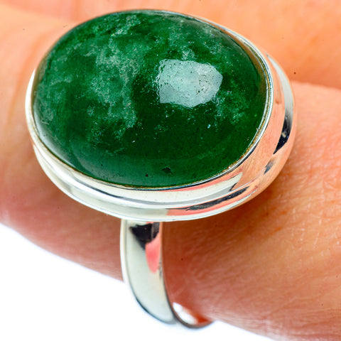 Green Aventurine Rings handcrafted by Ana Silver Co - RING38917