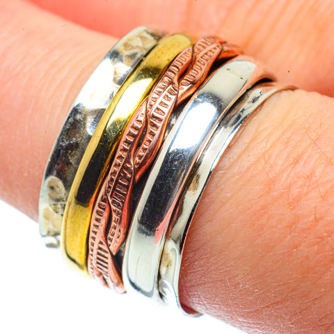 Meditation Spinner Rings handcrafted by Ana Silver Co - RING39006