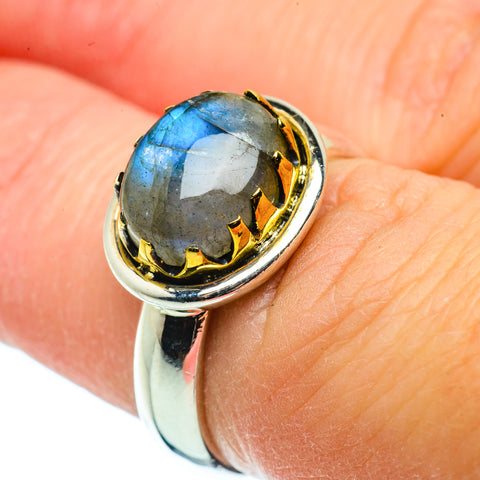 Labradorite Rings handcrafted by Ana Silver Co - RING39190