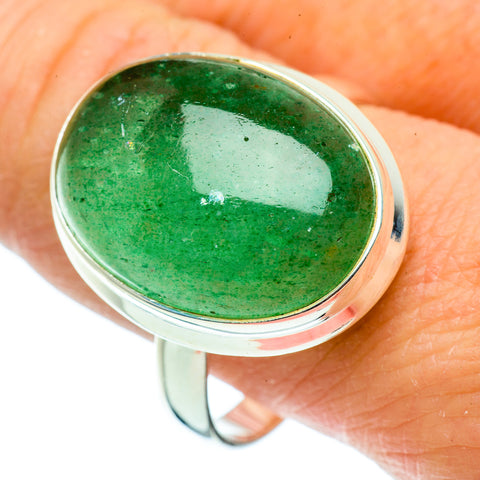 Green Aventurine Rings handcrafted by Ana Silver Co - RING39376