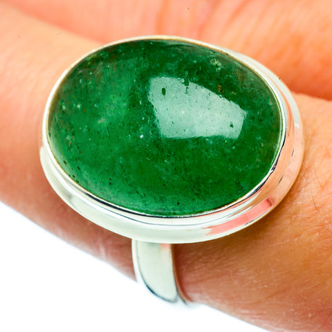 Green Aventurine Rings handcrafted by Ana Silver Co - RING39381
