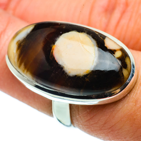 Peanut Wood Jasper Rings handcrafted by Ana Silver Co - RING39389