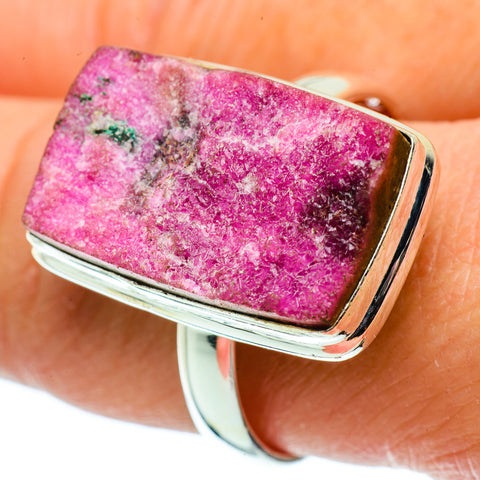 Cobalto Calcite Druzy Rings handcrafted by Ana Silver Co - RING39399
