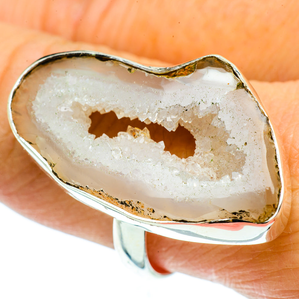 Coconut Geode Slice Rings handcrafted by Ana Silver Co - RING39521