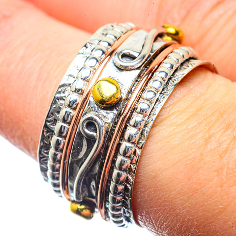 Meditation Spinner Rings handcrafted by Ana Silver Co - RING39656