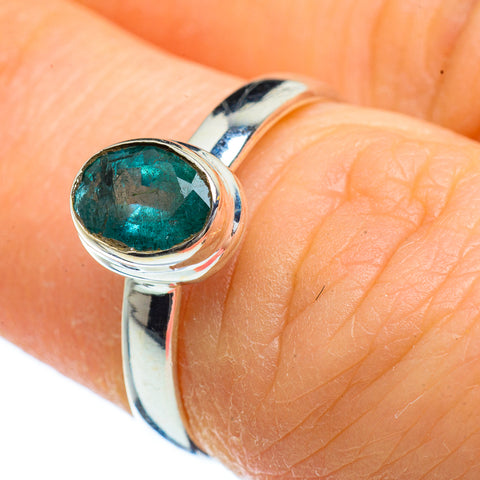 Zambian Emerald Rings handcrafted by Ana Silver Co - RING39986