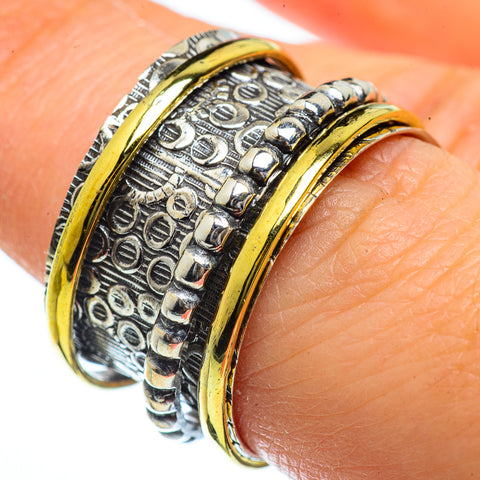 Meditation Spinner Rings handcrafted by Ana Silver Co - RING40109