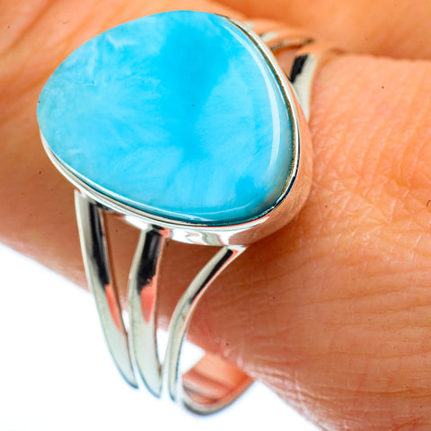 Larimar Rings handcrafted by Ana Silver Co - RING40226