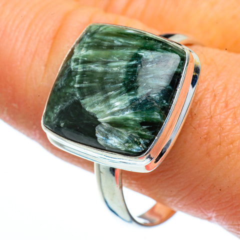 Seraphinite Rings handcrafted by Ana Silver Co - RING40451