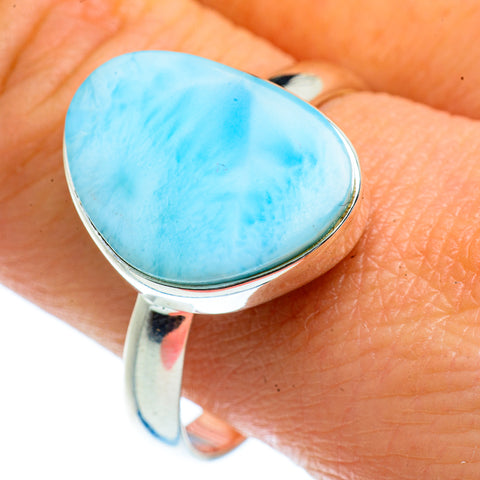 Larimar Rings handcrafted by Ana Silver Co - RING40480