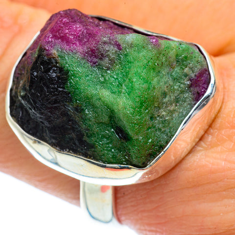 Ruby Zoisite Rings handcrafted by Ana Silver Co - RING40502
