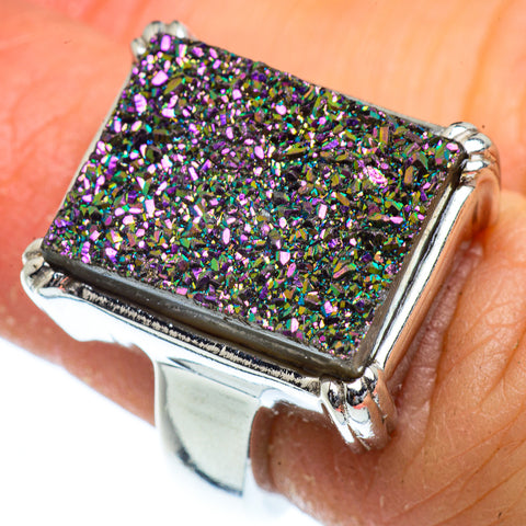 Titanium Druzy Rings handcrafted by Ana Silver Co - RING40529