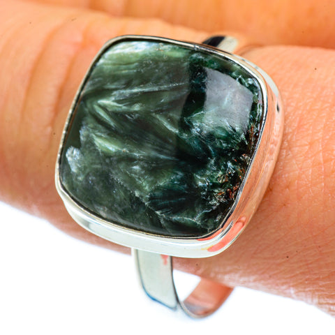 Seraphinite Rings handcrafted by Ana Silver Co - RING40538