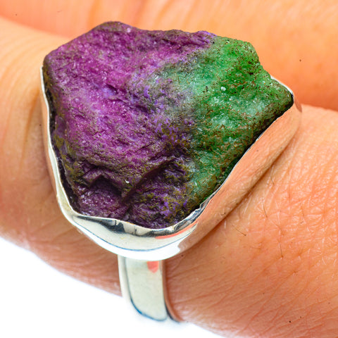 Ruby Zoisite Rings handcrafted by Ana Silver Co - RING40554