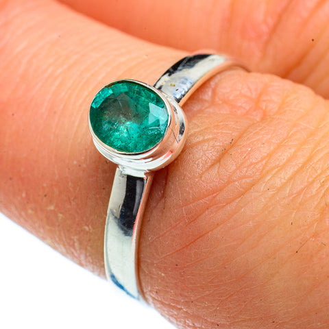 Zambian Emerald Rings handcrafted by Ana Silver Co - RING40563
