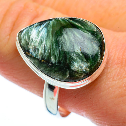 Seraphinite Rings handcrafted by Ana Silver Co - RING40827