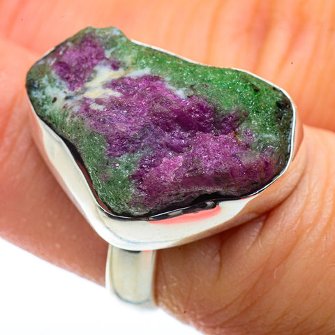 Ruby Zoisite Rings handcrafted by Ana Silver Co - RING40882