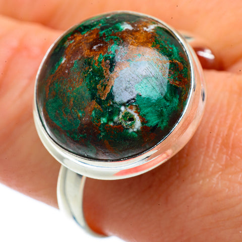 Chrysocolla Rings handcrafted by Ana Silver Co - RING40902