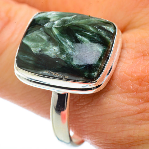 Seraphinite Rings handcrafted by Ana Silver Co - RING40934