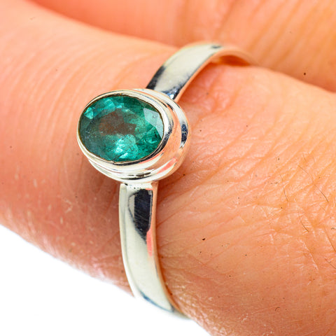 Zambian Emerald Rings handcrafted by Ana Silver Co - RING41020
