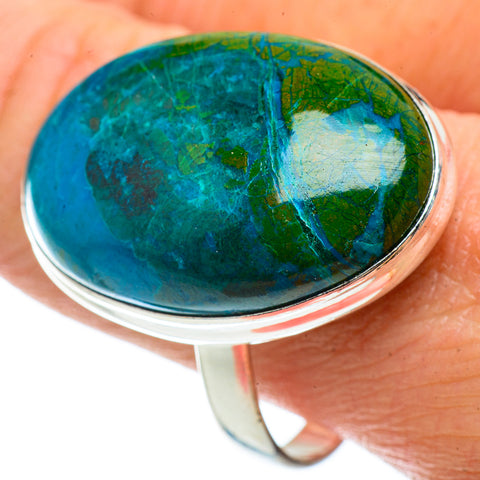 Chrysocolla Rings handcrafted by Ana Silver Co - RING41116