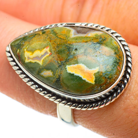 Rainforest Opal Rings handcrafted by Ana Silver Co - RING41126