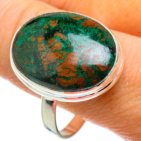Chrysocolla Rings handcrafted by Ana Silver Co - RING41128